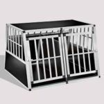 Aluminum Dog cage Large Double Door Dog cage 75a 104 06-0777